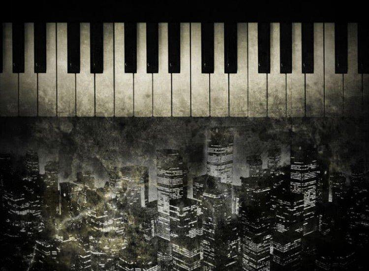Изкуство и музика-Фототапет Нощно Пиано