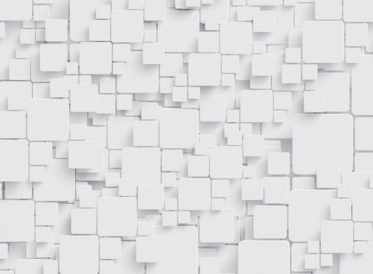 Фототапет 3d бели кубове
