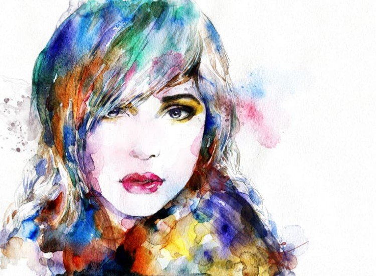 Модерни графики-Фототапет Рисунка на Жена