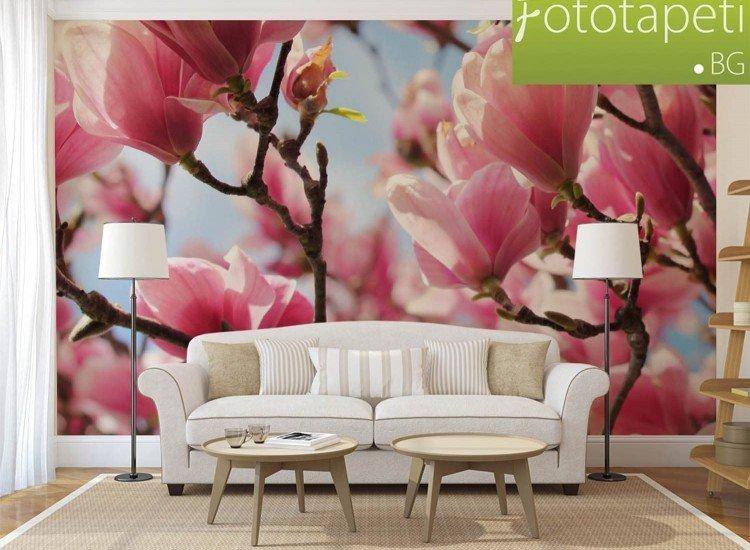 Цветя-Фототапет Магнолия