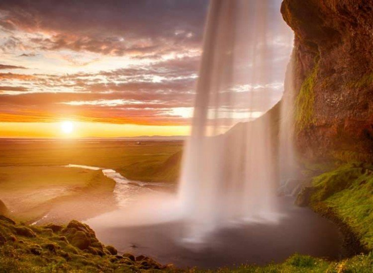 Пейзажи и природа-Фототапет Падащи води