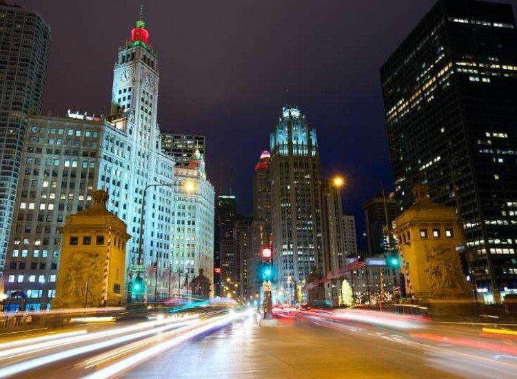 Градски пейзажи-Фототапет Светлините на града