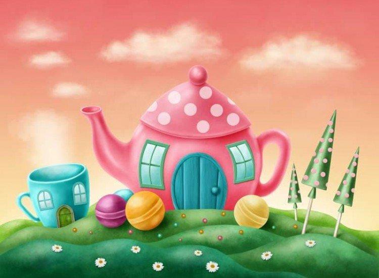 Детски фототапети-Фототапет Чаената къща