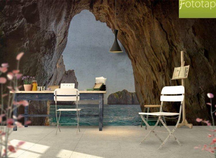 Морски и тропически-Фототапет Скална арка