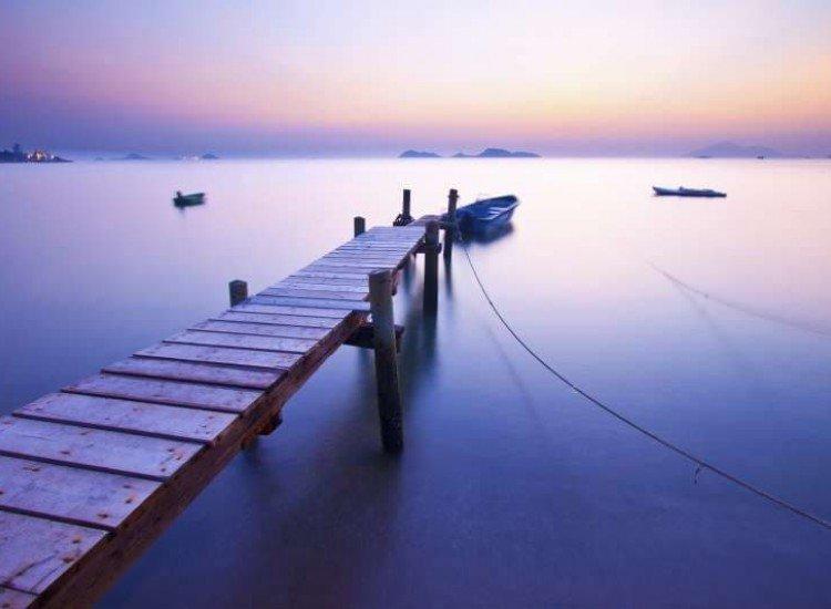Морски и тропически-Фототапет Изгрев по крайбрежието