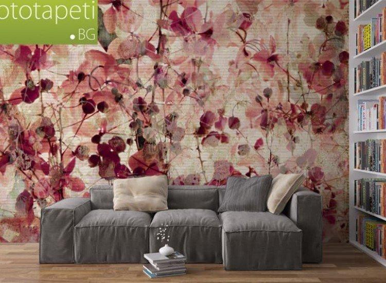 Текстури-Фототапет Винтидж цветен фон