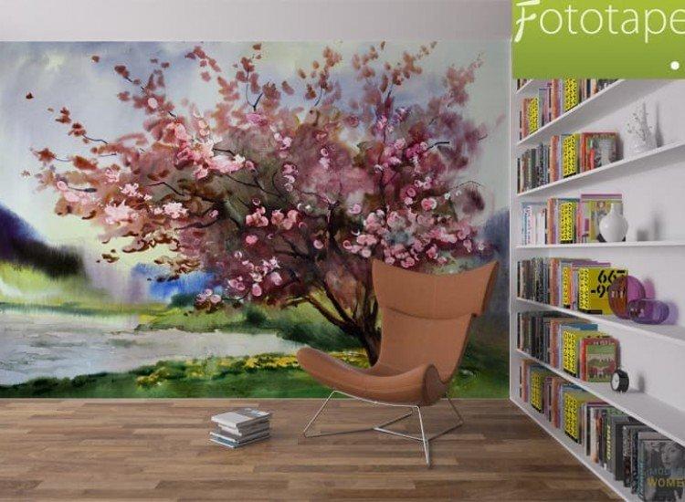 Пейзажи и природа-Фототапет Акварелен живопис