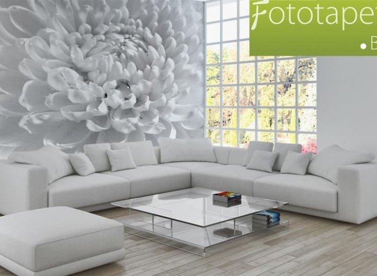 Цветя-Фототапет Бяла Далия