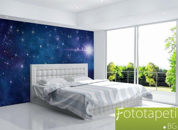 Космос-Фототапет Нощно небе със звезди