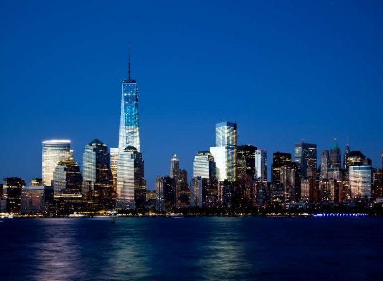Градски пейзажи-Фототапет Кулата на свободата Манхатън