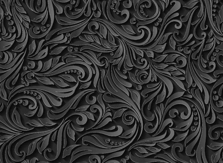 Текстури-Фототапет Черни флорални мотиви