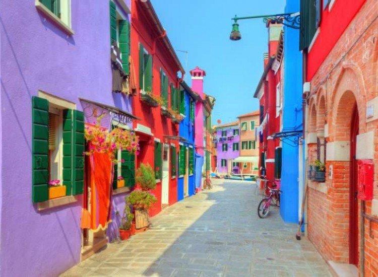 Сгради и забележителности-Фототапет Цветни къщи на остров Бурано