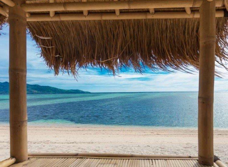 Морски и тропически-Фототапет Бамбукова колиба