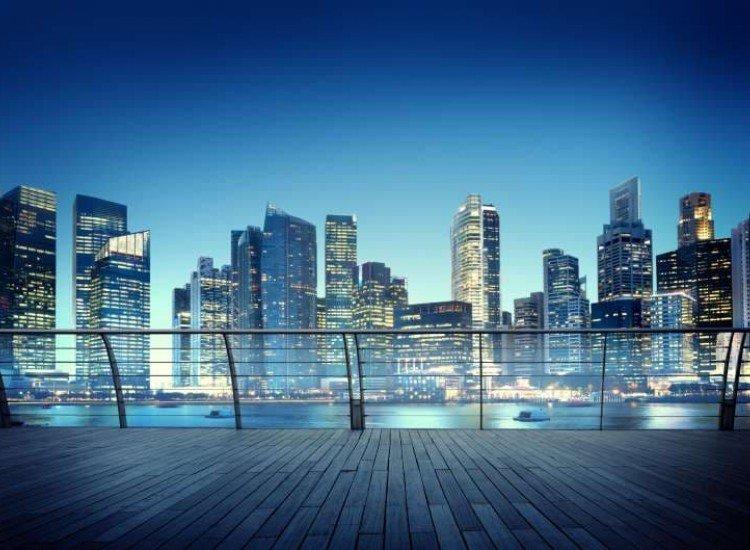 Градски пейзажи-Фототапет Градски архитектурен пейзаж