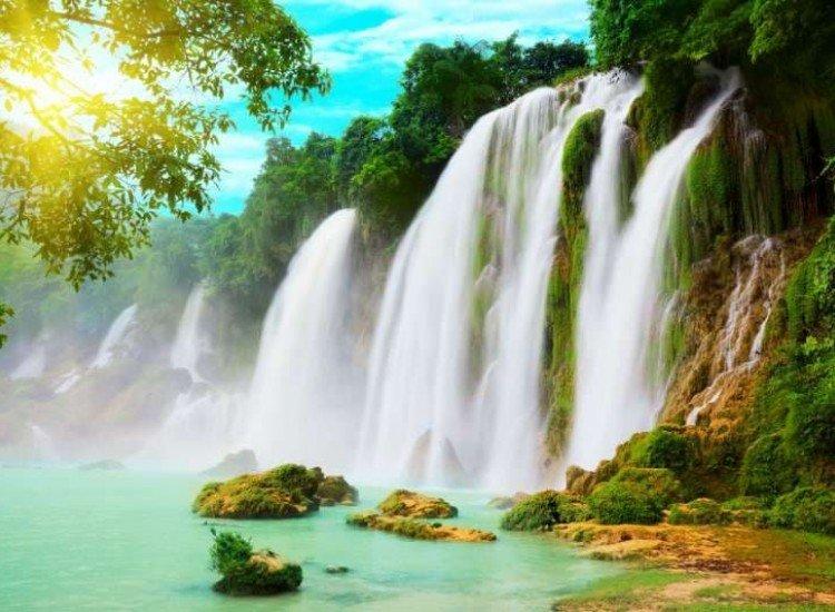 Пейзажи и природа-Фототапет Водопад във Виетнам