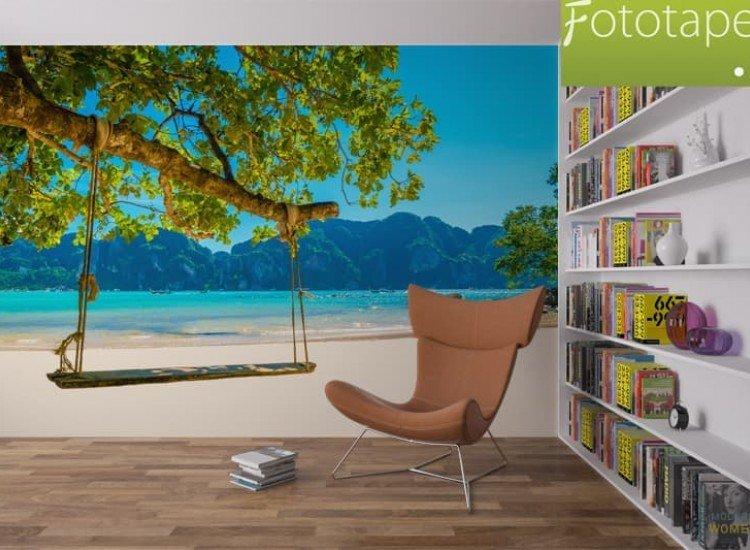 Морски и тропически-Фототапет Люлка на кокосово дърво