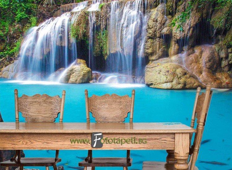 Пейзажи и природа-Фототапет Водопад Ереван Тайланд