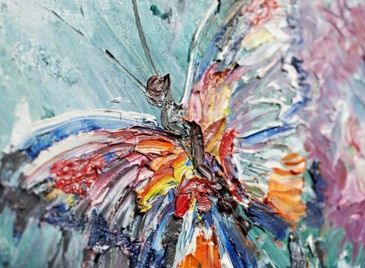 Модерни графики-Фототапет Фрагмент на пеперуда