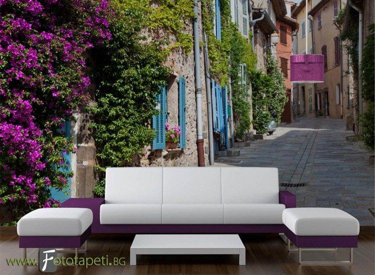 Сгради и забележителности-Фототапет Провансалска улица