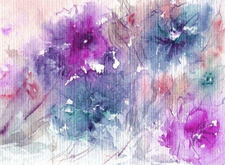 Цветя-Фототапет Акварелен цветен букет
