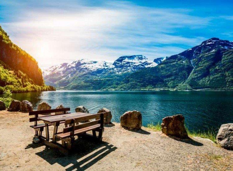 Пейзажи и природа-Фототапет Пейзаж от Норвегия