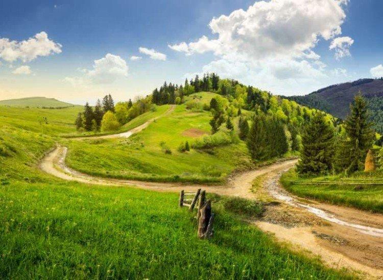 Пейзажи и природа-Фототапет Път на кръст