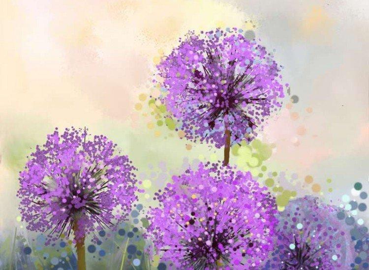 Цветя-Фототапет Абстрактно лилаво