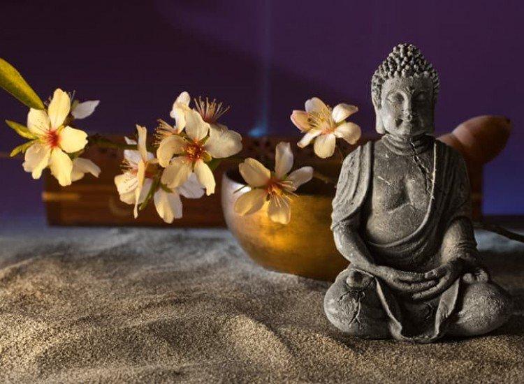 Зен фототапети-Фототапет Буда и тибетска купа