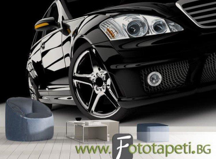 Автомобили и транспорт-Фототапет Модерен черен автомобил