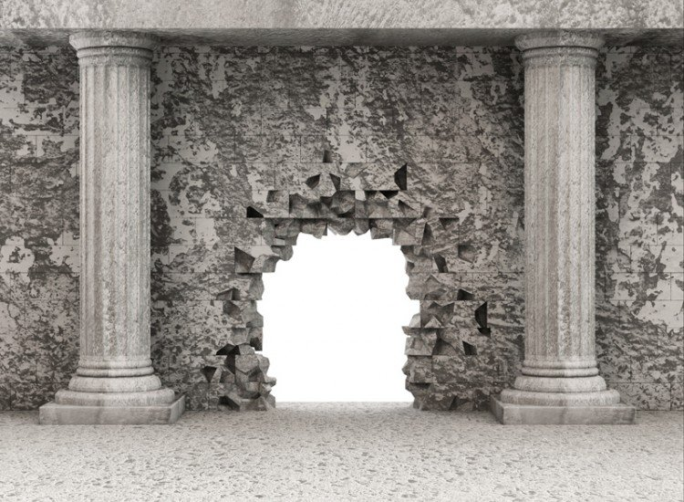 Фототапет Класически древен интериор