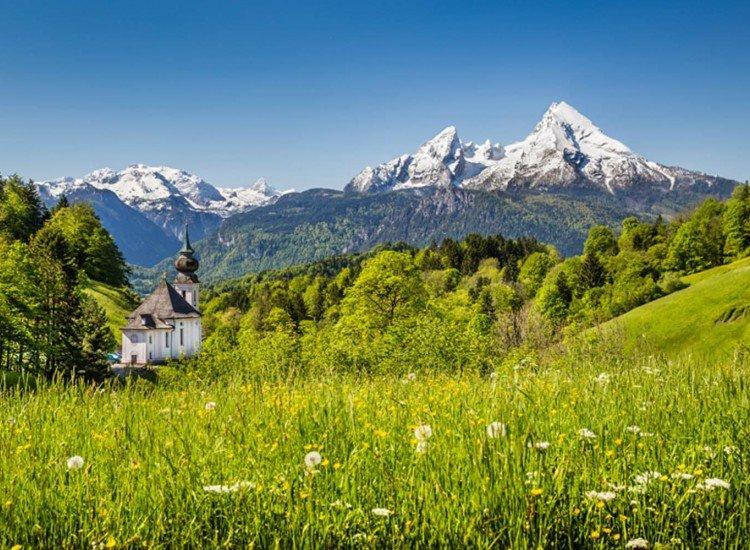 Пейзажи и природа-Фототапет Баварските Алпи