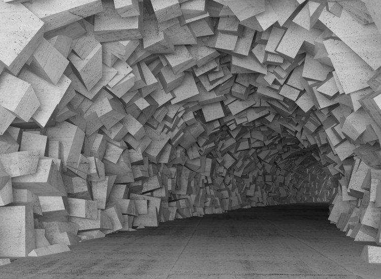 Фототапет Илюстрация на тунел 3d