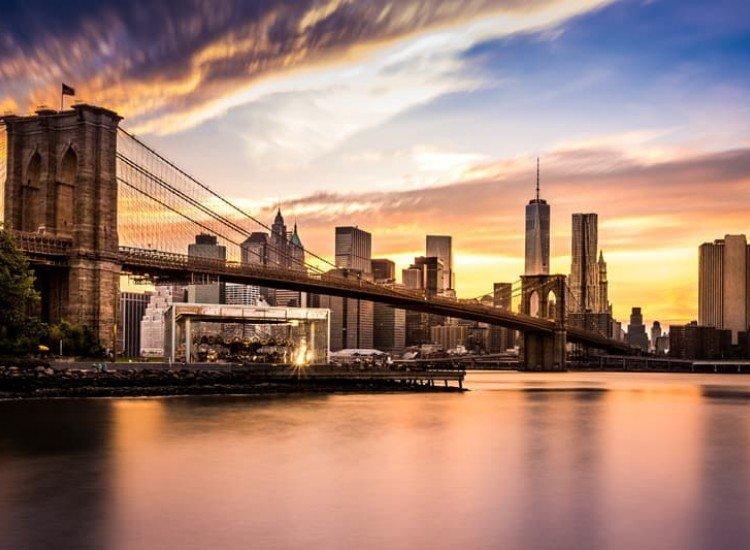Градски пейзажи-Фототапет Мост Бруклин