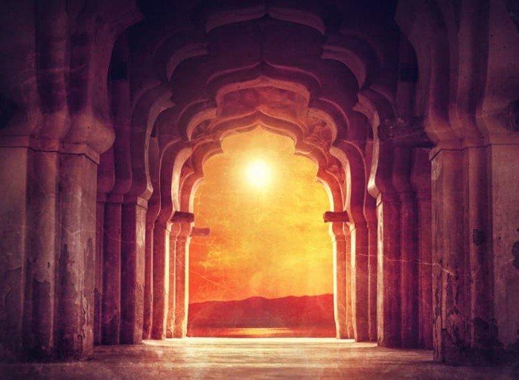 Архитектура-Фототапет Арка в храм Индия