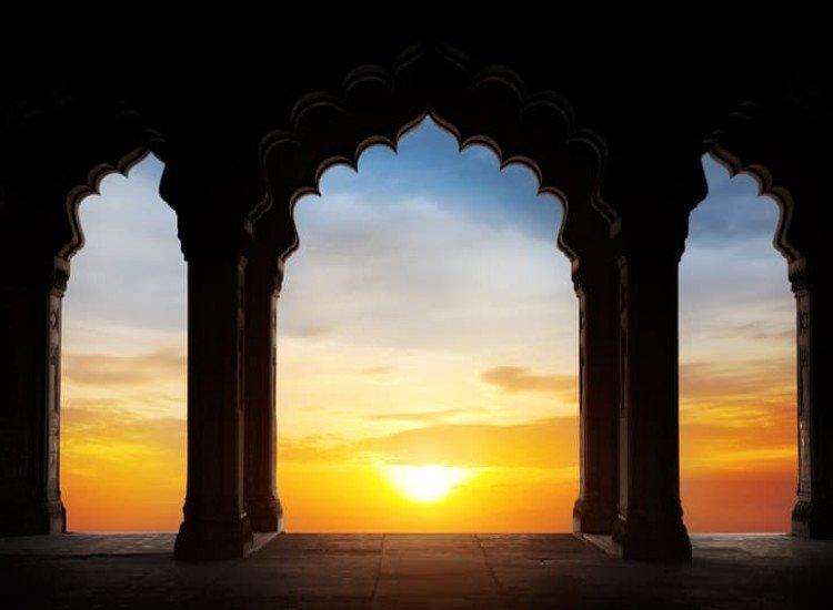 Архитектура-Фототапет Индийски силует на арка
