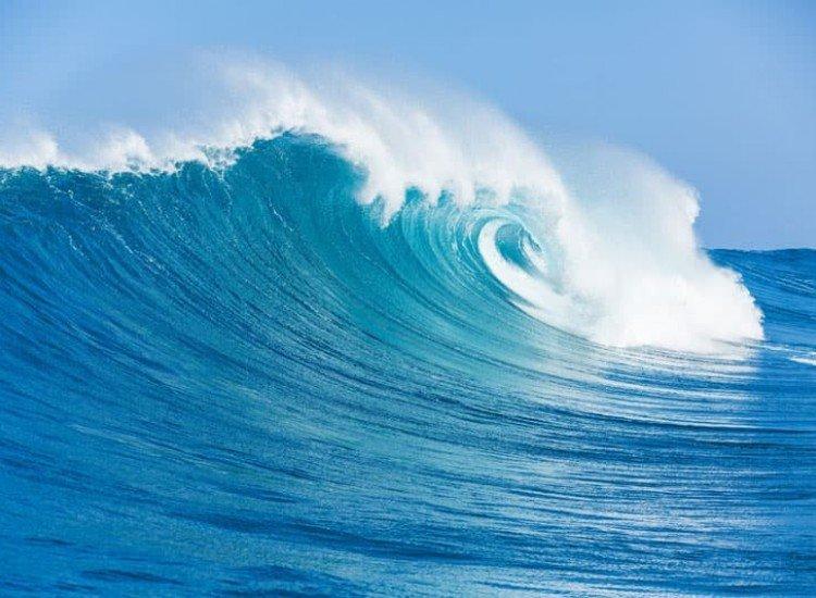 Морски и тропически-Фототапет Синя океанска вълна