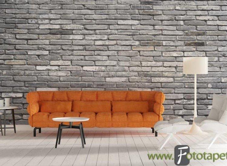 Текстури-Фототапет Сиви облицовъчни камъни