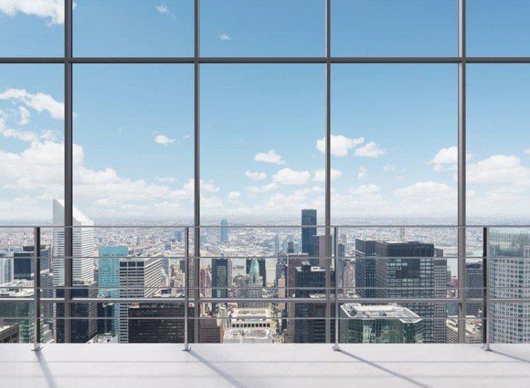 Градски пейзажи-Фототапет Изглед към града