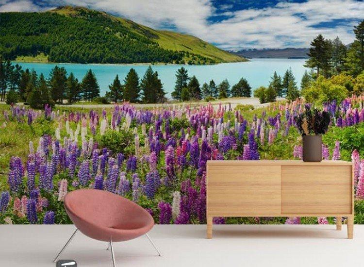Пейзажи и природа-Фототапет Цветна поляна