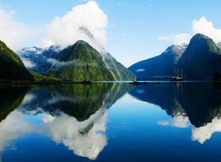 Пейзажи и природа-Фототапет Отражения в езеро