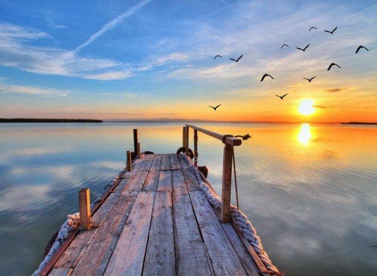 Морски и тропически-Фототапет Вълшебен изгрев