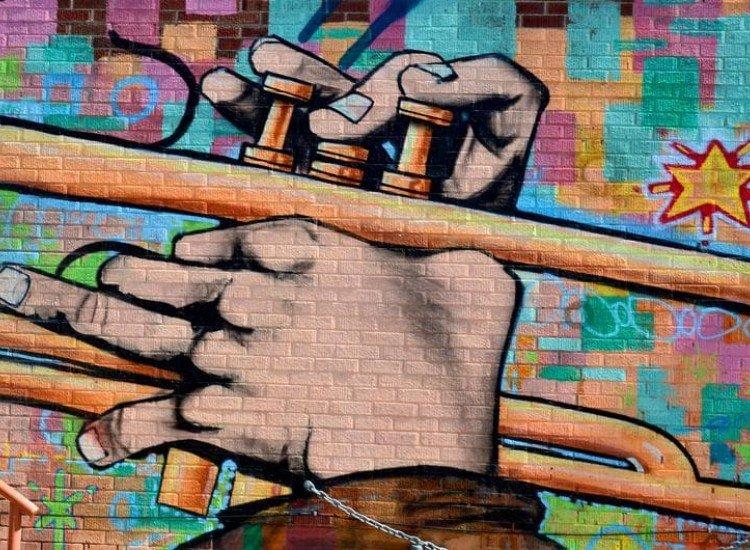 Графити и улично изкуство-Фототапет Джаз графит