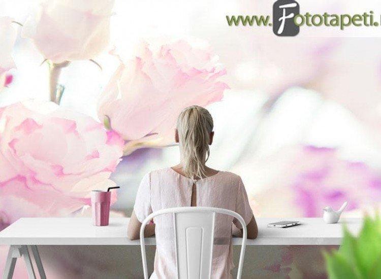 Цветя-Фототапет Романтични цветя