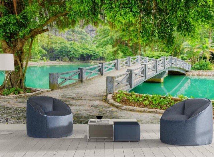 Пейзажи и природа-Фототапет Тропическа градина, Виетнам