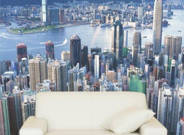 Градски пейзажи-Фототапет Хонг Конг отвисоко