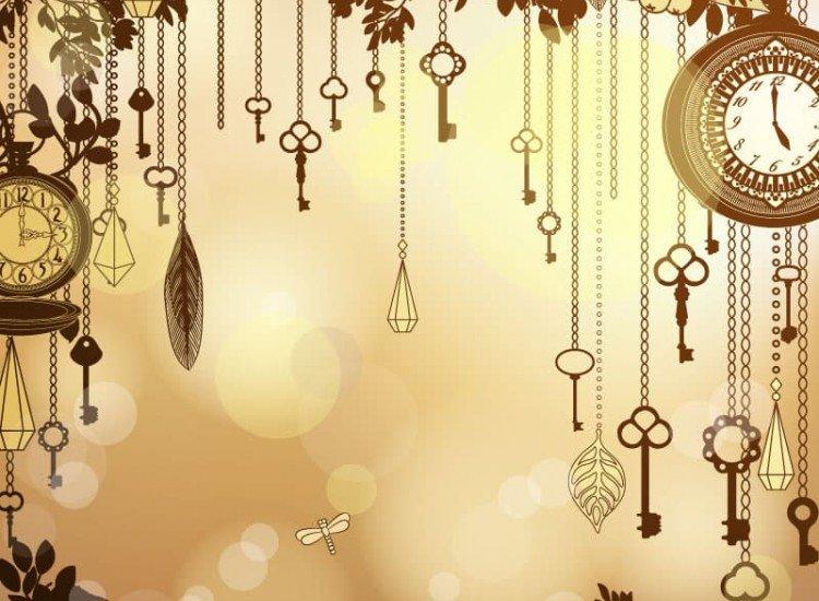 Винтидж фототапети-Фототапет Античен златен фон