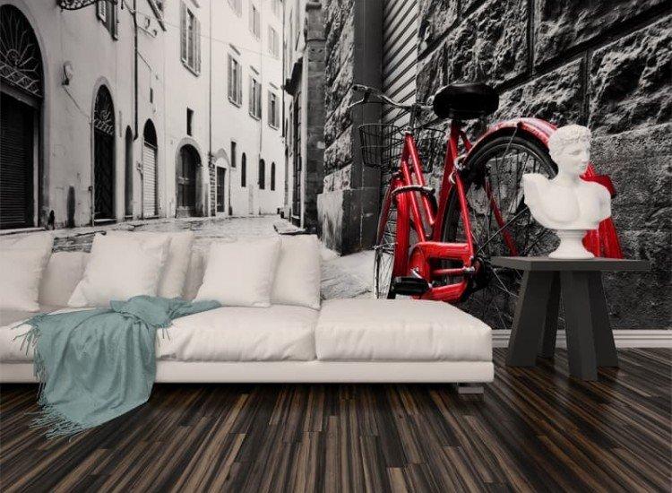 Градски пейзажи-Фототапет Ретро колело