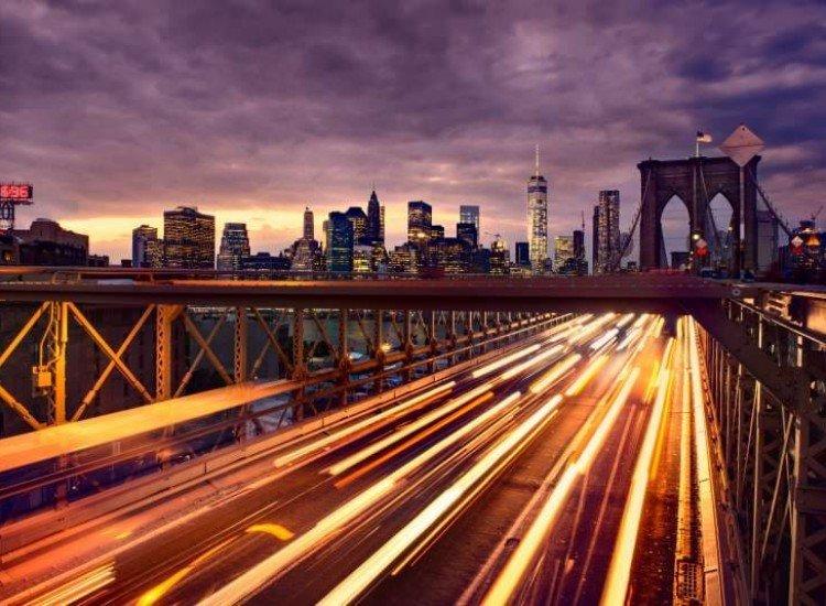 Градски пейзажи-Фототапет NYC трафик