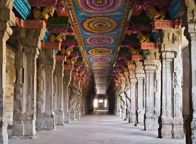 Сгради и забележителности-Фототапет Индуски храм в Мадурай