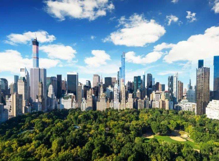 Градски пейзажи-Фототапет Изглед към Сентрал парк